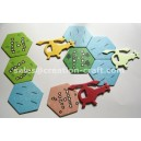 CC108-Paper CardBoard Hexagon Counters